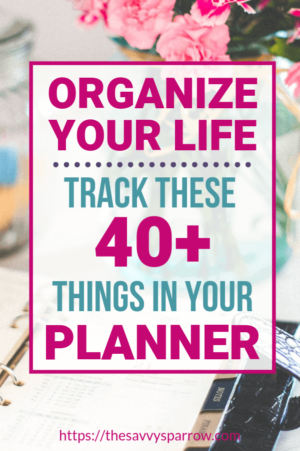 Need planner ideas for things to keep track of in your planner? Stay organized with your Happy Planner and these planner organization tips!