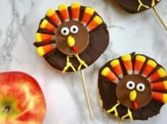 chocolate apple turkeys