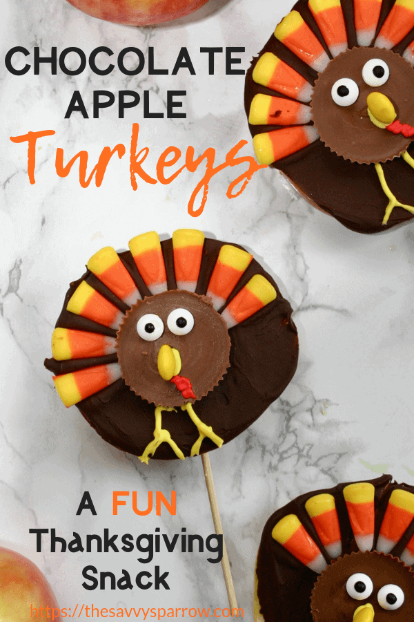 These cute apple donut turkeys make the perfect cute Thanksgiving snacks for kids. Take these Thanksgiving snacks to kids' schools for a fun and easy treat!