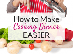 Want easy cooking tips for how to make cooking dinner easier? If you struggle with cooking dinner and you're in desperate need of cooking tips to make dinner without stressing out, then try these easy cooking tips!