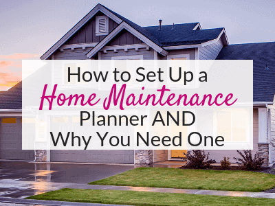 Try a home maintenance planner to keep track of home maintenance schedule and checklist, home repair contacts, and more!