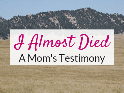 Stress Less…  A Mom's Testimony about Not Sweating the Small Stuff