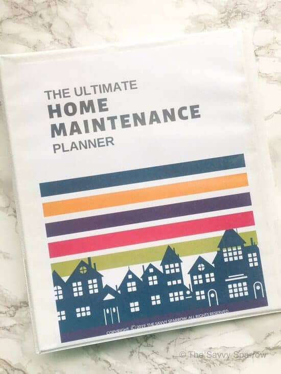 Home maintenance planner with home maintenance schedules!