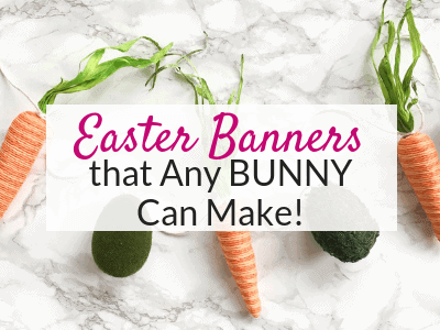 These easy DIY Easter banners are perfect for your DIY spring mantel decor ideas! DIY Spring banners!