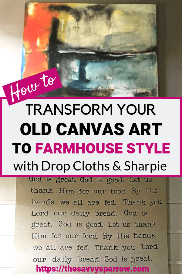 Easy Large Diy Wall Art Using Drop Cloths The Savvy Sparrow