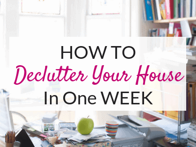 Learn how to declutter your house in one week with this easy decluttering guide! Find out how to start decluttering, what to do with your clutter, and get a free declutter checklist!