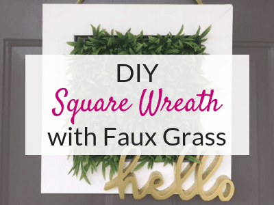 DIY Square Wreath for Your Front Porch Decor