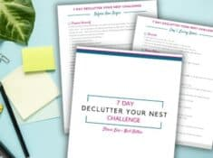 printable one week decluttering challenge