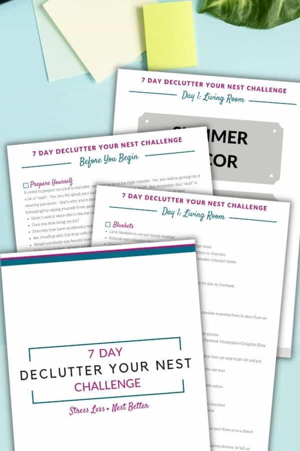 printable one week declutter challenge