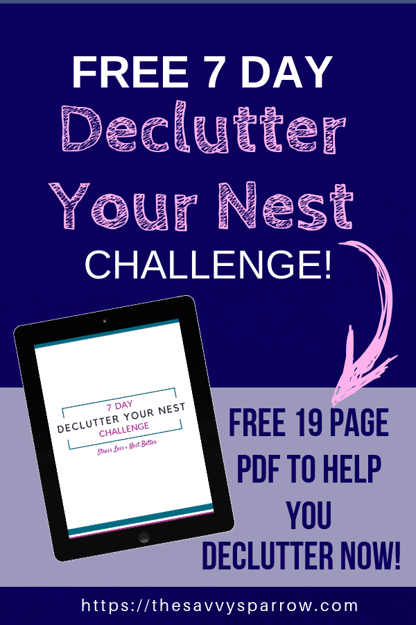 Free 7 day declutter you nest challenge mockup on ipad