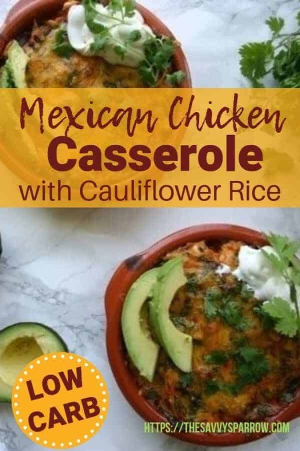 Try this low carb Mexican chicken casserole when you need easy low carb dinner recipes! Loaded with vegetables and super flavorful!