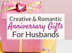 These creative anniversary gift ideas for him are perfect gift ideas for husbands that are hard to shop for. These gift ideas are sweet and romantic and will make him feel loved!