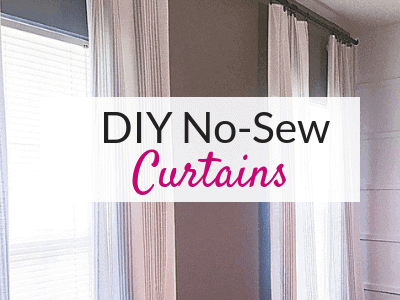 Diy No Sew Curtains From A Tablecloth The Savvy Sparrow