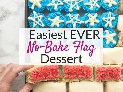 No-Bake Flag Dessert for 4th of July