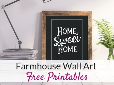 Free Farmhouse Printables for Easy DIY Wall Art