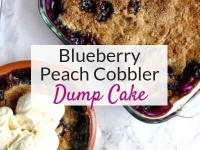 Blueberry Peach Cobbler Dump Cake