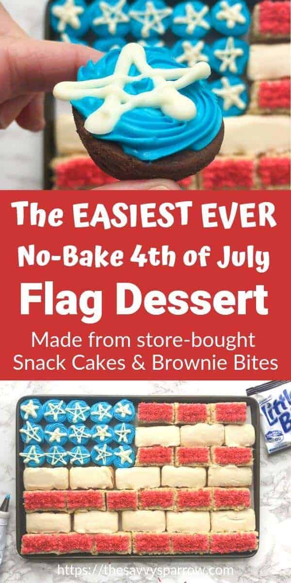 no bake 4th of july dessert flag