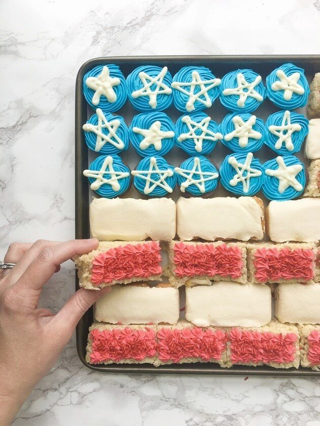 no bake flag desserts