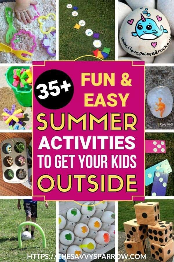 Outdoor Summer Activities for Kids to keep your little ones entertained at home!
