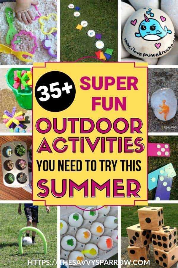 Outdoor summer activities for kids to keep them entertained outside!
