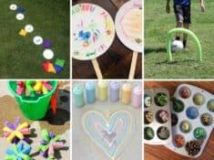 collage of outdoor summer activities for kids