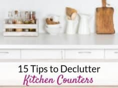 Declutter kitchen counters with these kitchen counter organization tips!