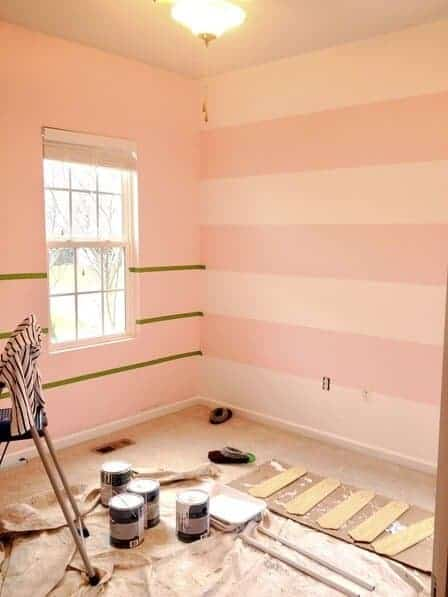 How To Paint Stripes On Walls The Savvy Sparrow