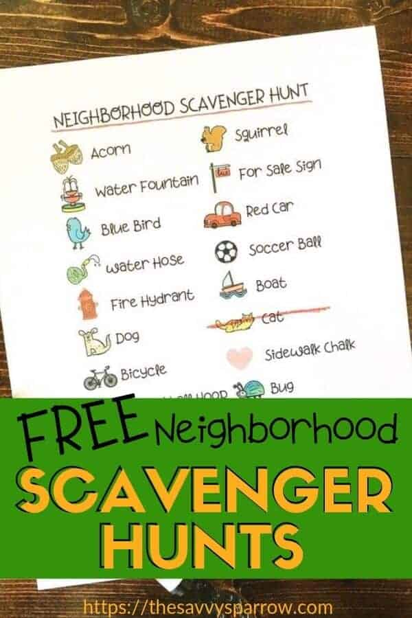 Scavenger Hunt Ideas for Kids - with free printables!