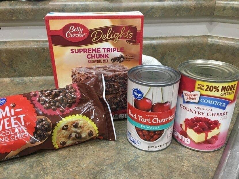 Chocolate cherry dump cake ingredients