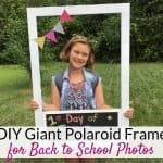DIY Polaroid photo booth frame for back to school photoshoot ideas!