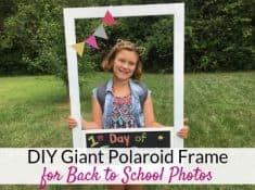 DIY Polaroid photo booth frame for back to school photoshoot ideas!