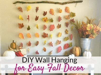 Easy Diy Wall Hanging For Fall Wall Decor The Savvy Sparrow