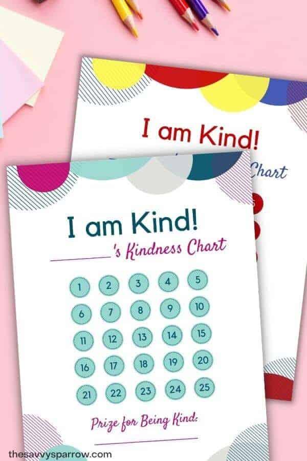 free printable kindness charts