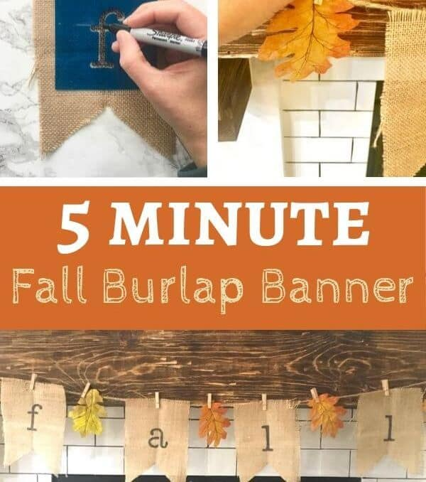 Burlap Fall Banner to hang on your fireplace