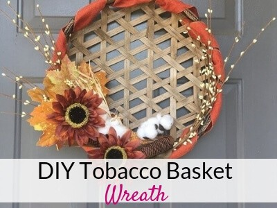 Tobacco Basket Wreath for Fall