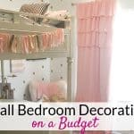 Small bedroom decorating ideas on a budget!