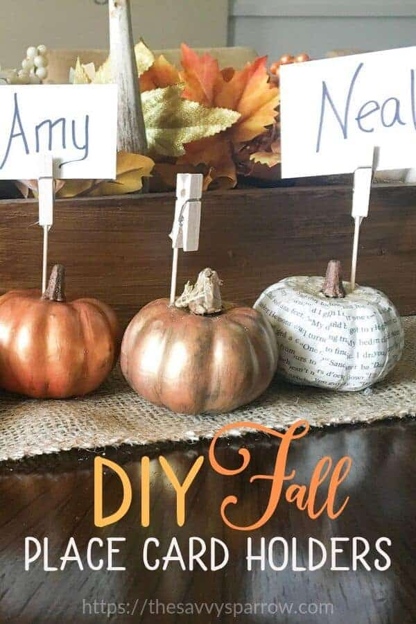 DIY place card holders for fall!