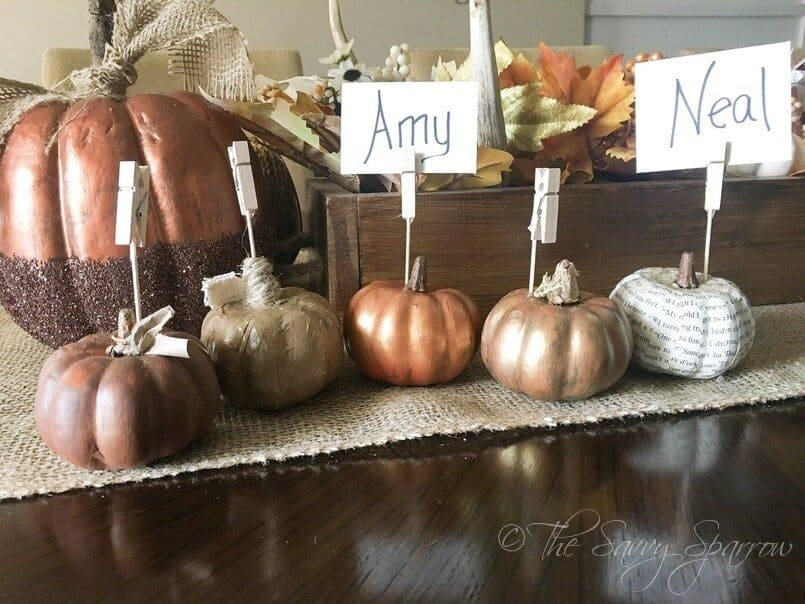 DIY Thanksgiving place card holders!