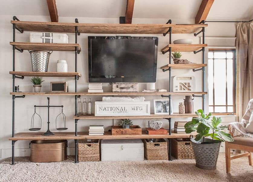 diy industrial entertainment center
