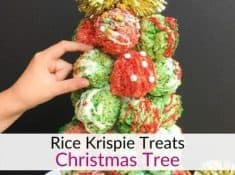 Rice Krispie treats Christmas tree