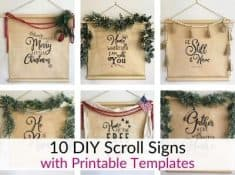 How to make a scroll sign