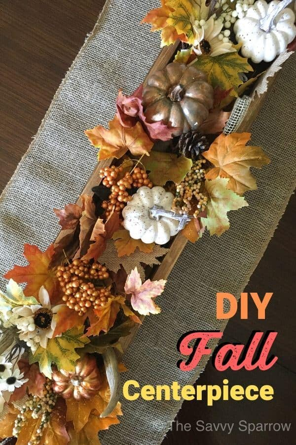 Easy DIY rustic fall centerpiece!