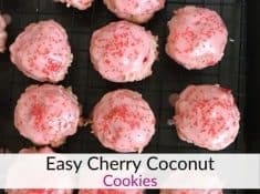 Cherry coconut cookies