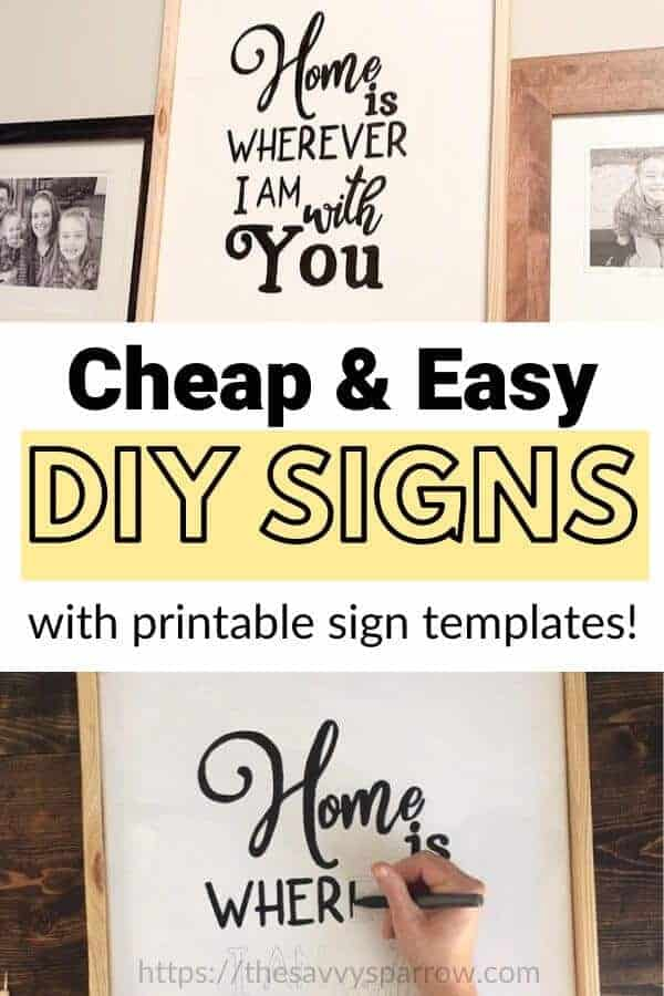 DIY signs - Easy DIY signs on canvas!