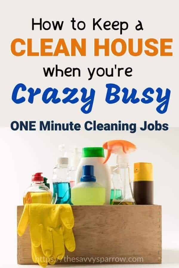 How to keep a clean house when you're too busy!