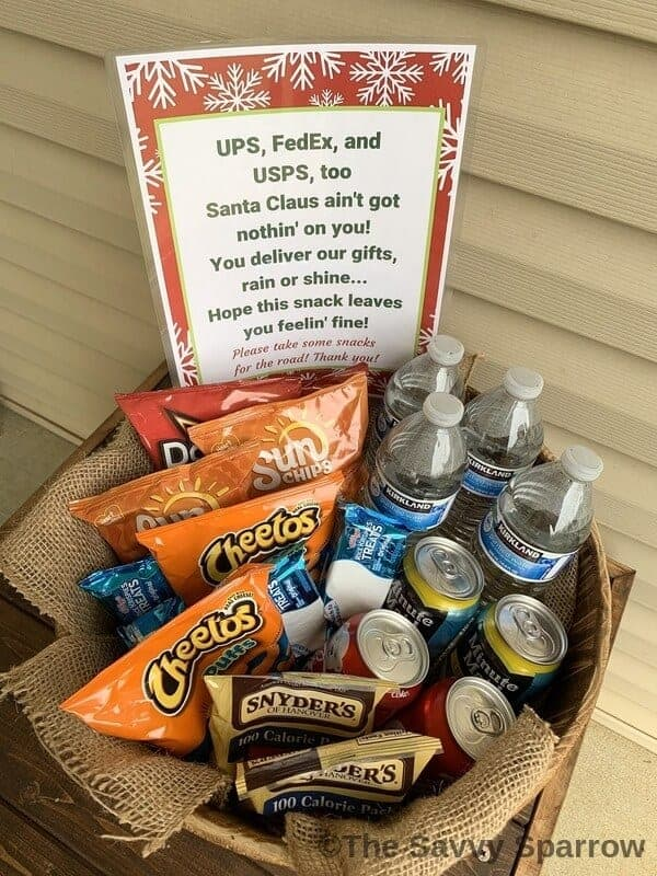 Holiday Thank You Basket for Delivery Drivers - UPS, FedEx, USPS