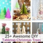 Tabletop Christmas tree crafts