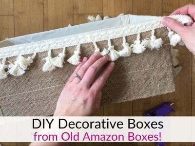 DIY Storage Boxes from Cardboard Boxes