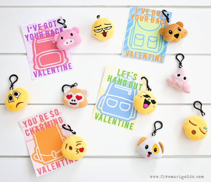 Backpack Charms Valentines Printables