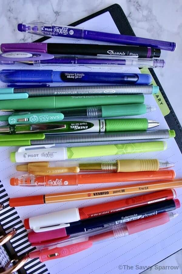 The best pens for Planners!